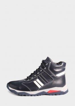 Зимние спортивные ботинки синего цвета