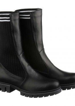 Женские ботинки с трикотажем