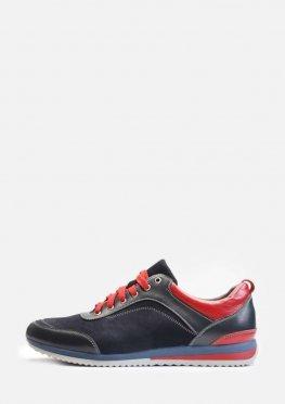 Мужские яркие кроссовки из натуральной кожи и замши