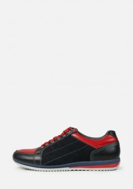 Мужские стильные кроссовки из натуральной кожи и замши