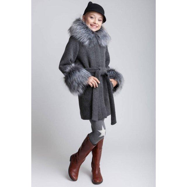 """Пальто для девочки """"Чернобурка"""" ()"""