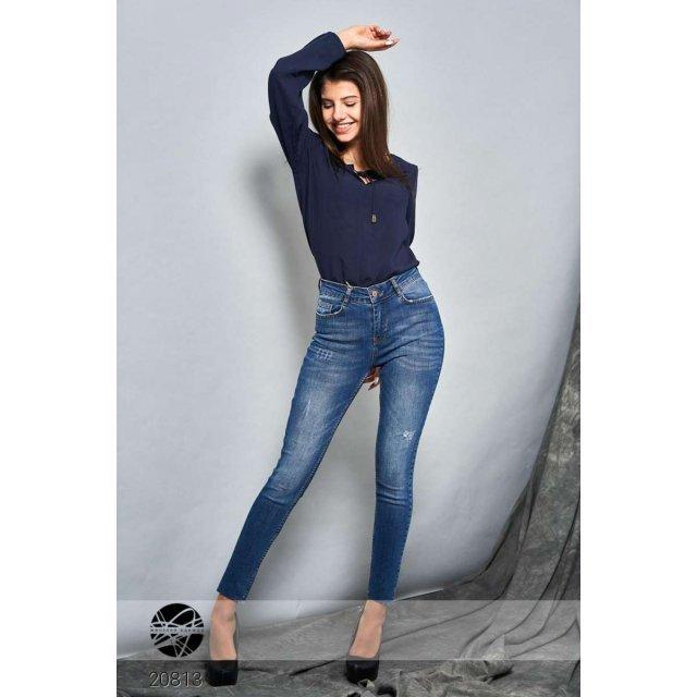 Выбеленные джинсы-скинни