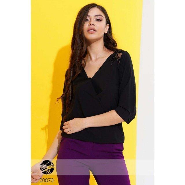 Блуза с перекрестным дизайном (20873)