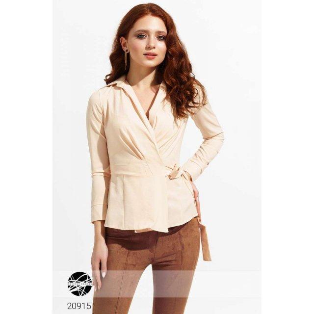Блуза на запах с завязкой (20915)