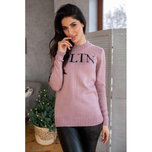 Вязаный свитер с контрастным логотипом