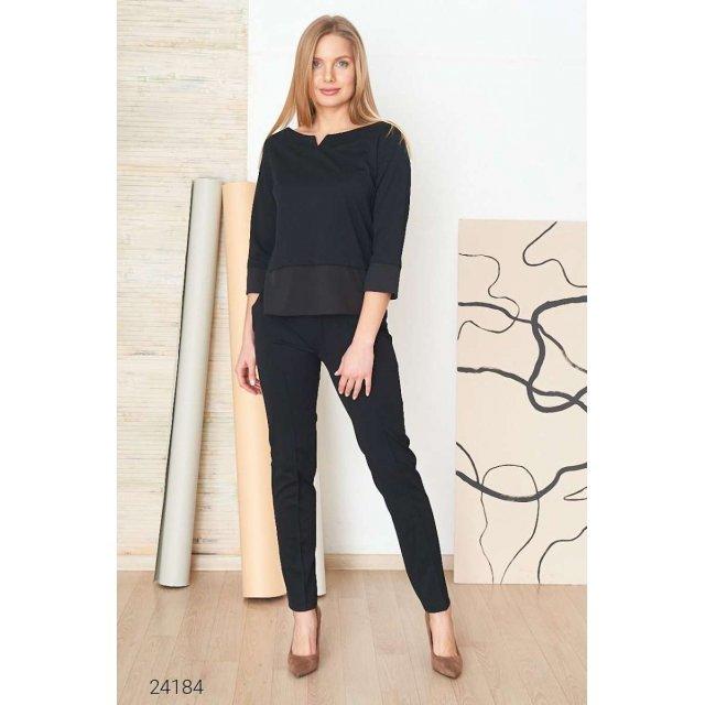 Костюм из джемпера и брюк с декоративной строчкой (24184)