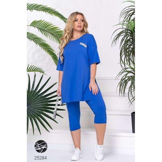 Комплект: леггинсы-капри и удлинённая футболка (25284)