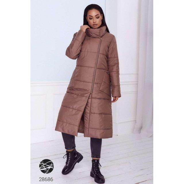 Дутая стёганная куртка с воротом-стойкой