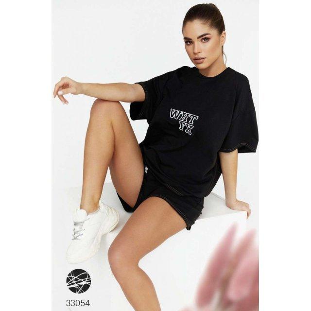Трикотажный комплект из футболки и шорт (33054)
