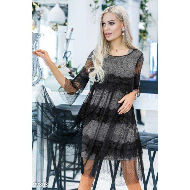 Стильное платье-сетка