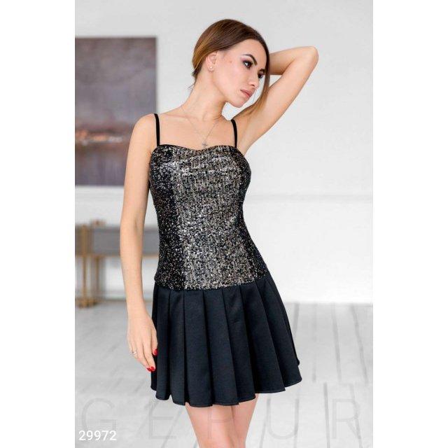 Вечернее короткое платье (29972)