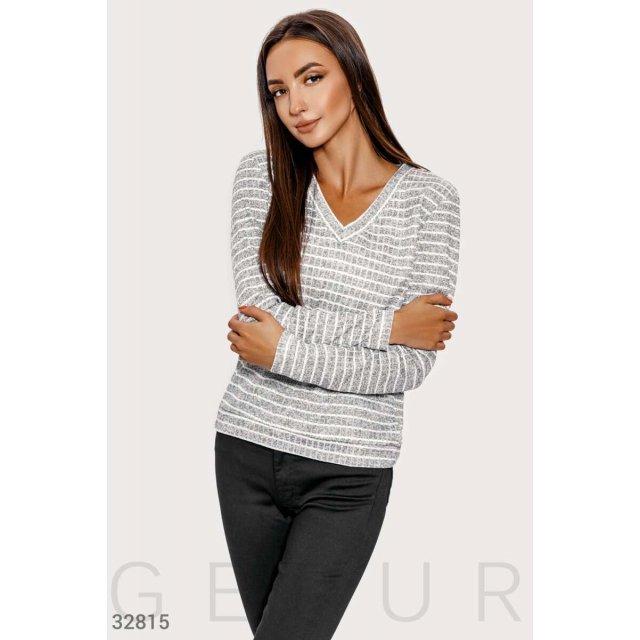 Повседневный трикотажный пуловер (32815)