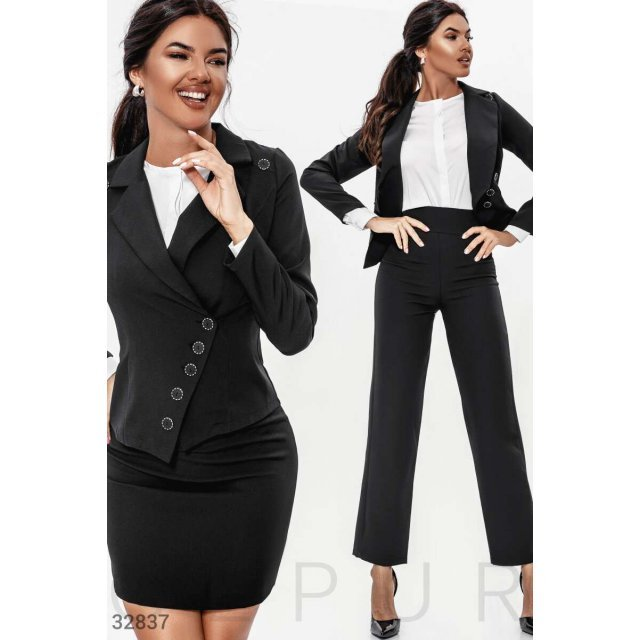 Классический костюм-тройка (32837)