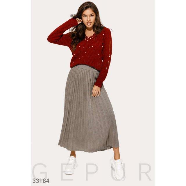 Вязаная стильная юбка