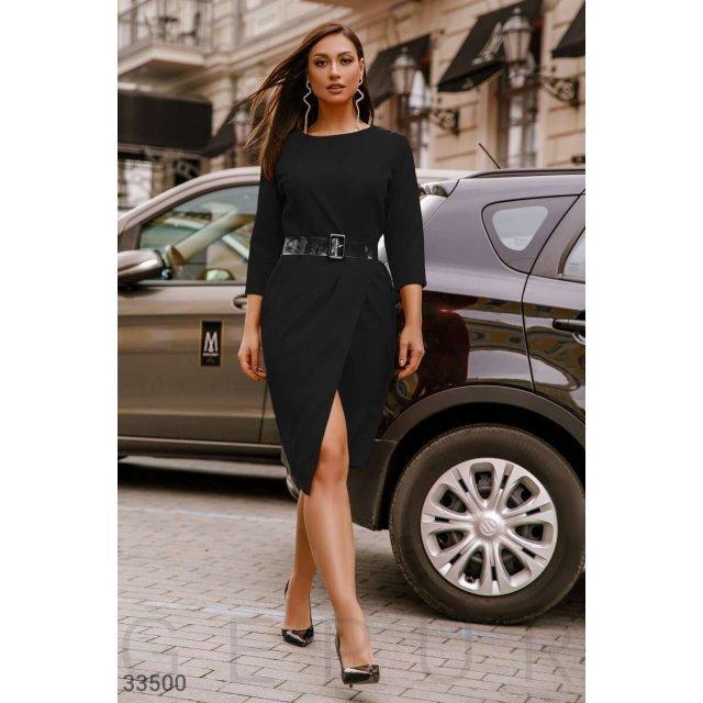 Платье с прозрачным ремнем (33500)