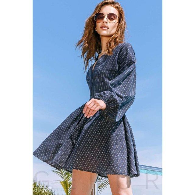 Платье-мини с длинным рукавом (35327)