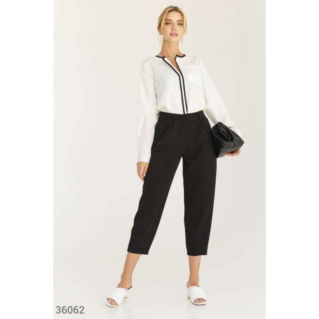 Трендовые зауженные брюки (36062)