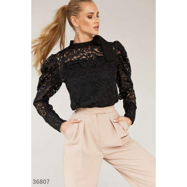 Ажурная блуза из крупного кружева (36807)