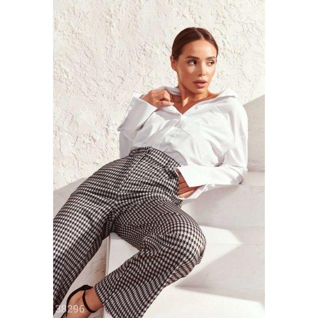 Широкие брюки в офисном стиле