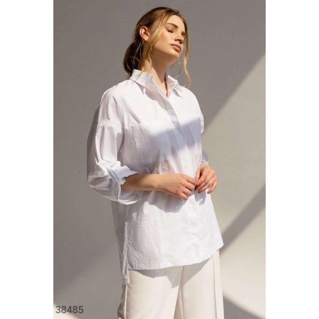 Базовая белая рубашка (38485)