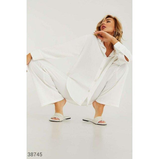 Casual-костюм из легкой ткани (38745)