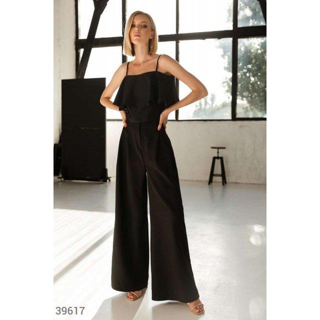 Широкие черные брюки (39617)