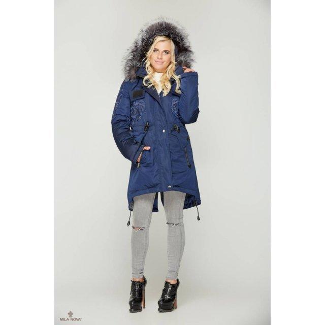 Mila Nova Куртка-парка К-7 Синяя