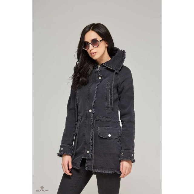 Mila Nova Джинсовая куртка Q-14 Черная
