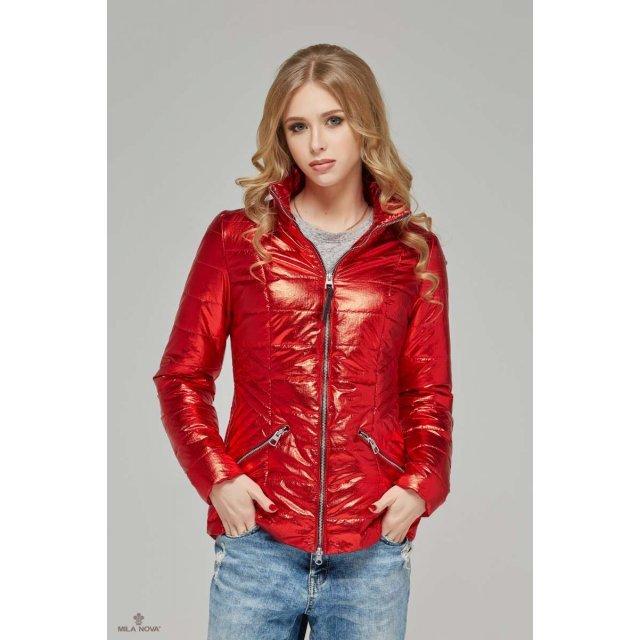 Mila Nova Куртка К-63 металлик Красный