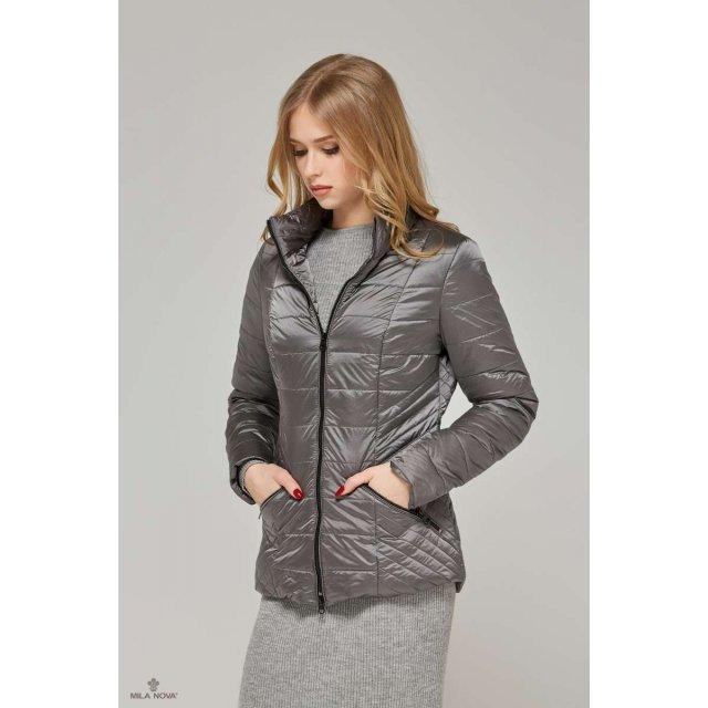 Mila Nova Куртка К-63 хамелеон Серый