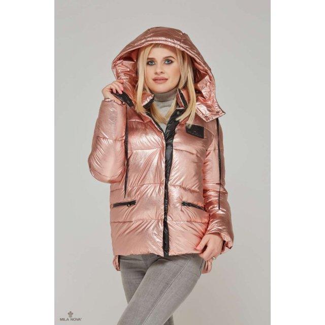 Mila Nova Куртка К-65 металлик Розовый