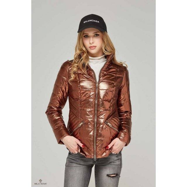 Mila Nova Куртка К-63 металлик Шоколад