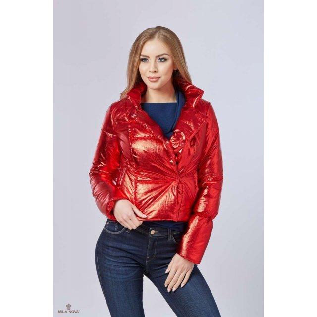 Mila Nova Куртка К-74 металлик Красный