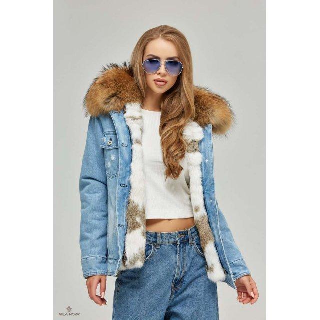 Mila Nova Джинсовая зимняя куртка П-56