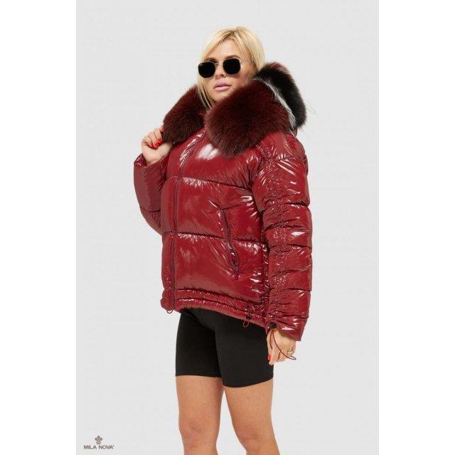 Mila Nova Куртка К-104 Бордо