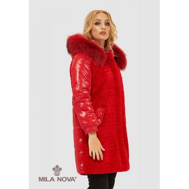 Mila Nova Куртка К-101 Красная