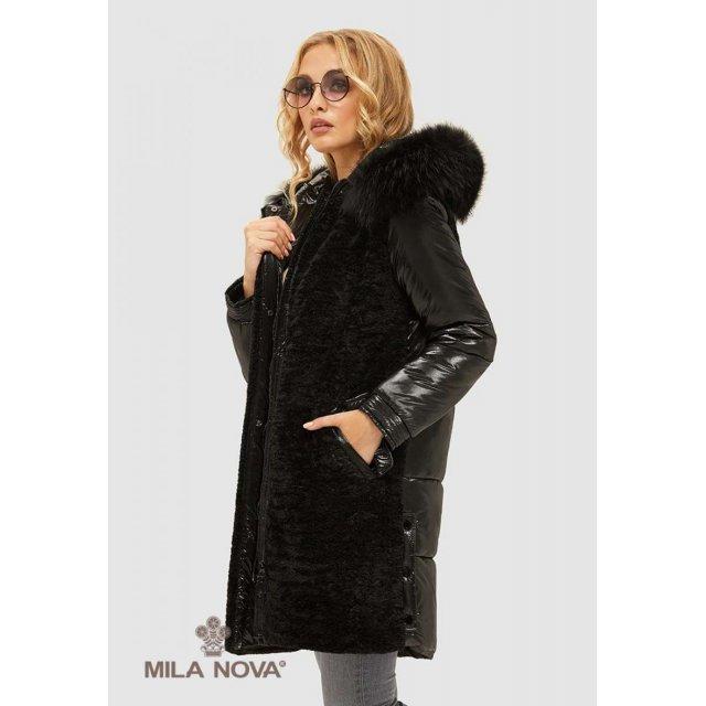 Mila Nova Куртка К-101 Черная
