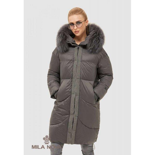 Mila Nova Куртка К-117 Серая