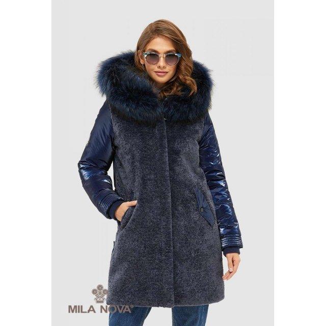 Mila Nova Куртка К-101 Синяя