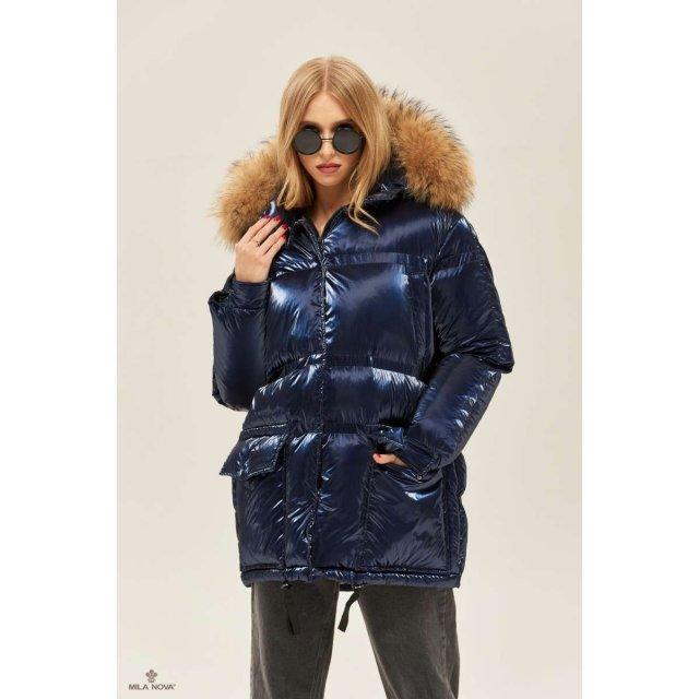 Mila Nova Куртка К-128 Синяя