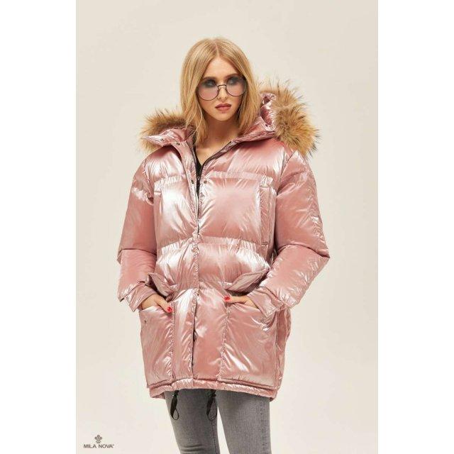 Mila Nova Куртка К-128 Розовая