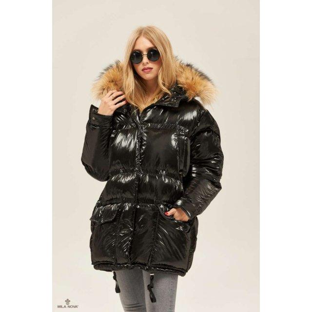 Mila Nova Куртка К-128 Черная