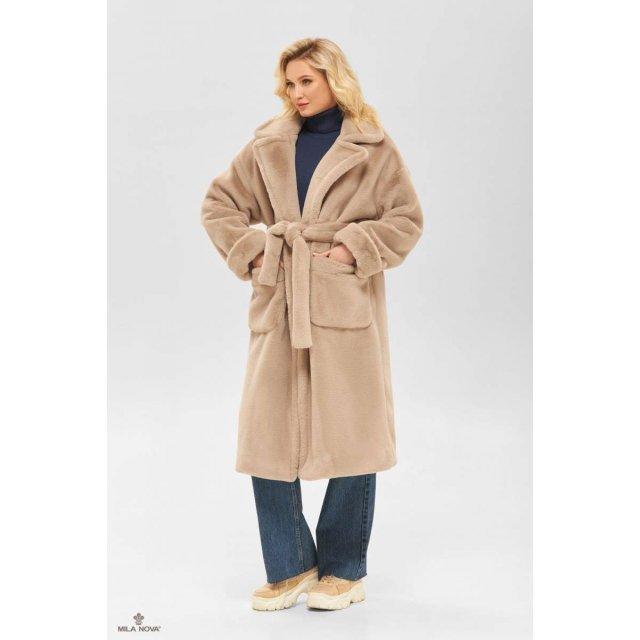 Mila Nova Пальто ПВ-233 бежевый