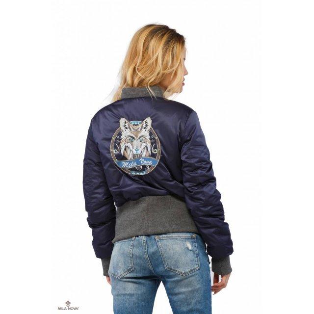 Mila Nova Бомбер синий КВ-13