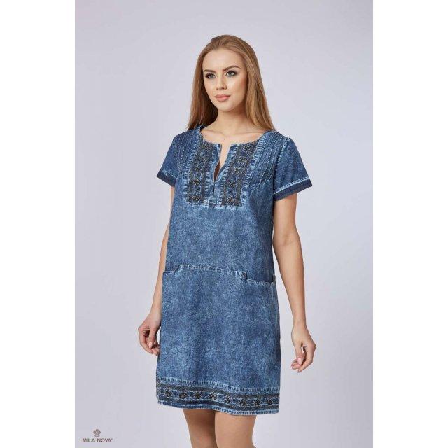 Mila Nova Джинсовое платье Ф-25