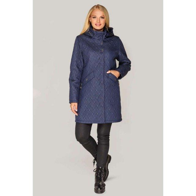 Синяя женская куртка демисезон, стеганая