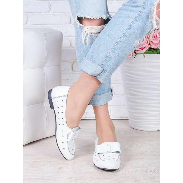 Туфли белые кожаные Bant (лето)