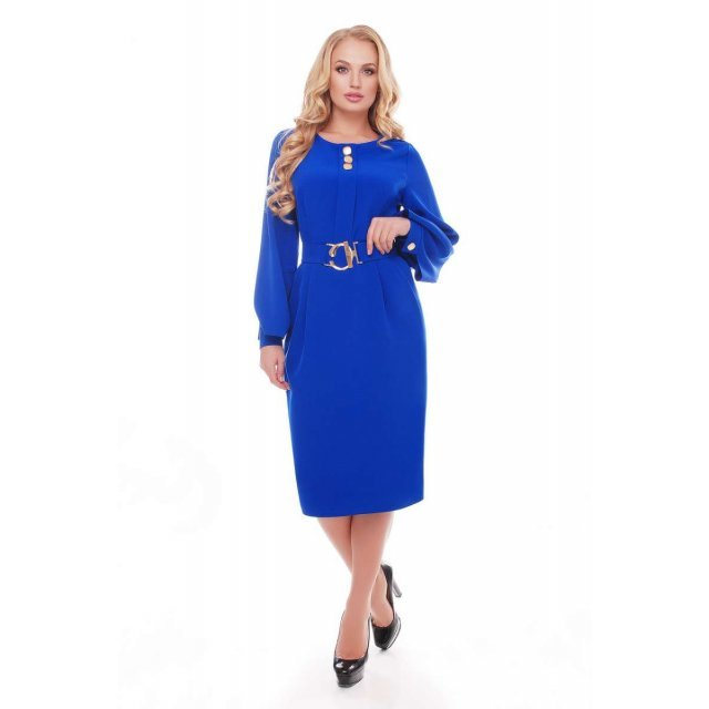 Жіноча сукня Єкатерина кольору електрик